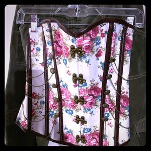 Tops - Beautiful floral corset Size M
